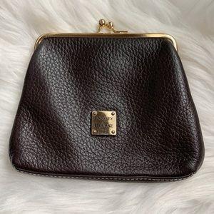 Dooney & Bourke • Dark Brown Leather Coin Purse